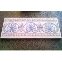 Bordura stil clasic - Flori Albastre - V&B, 10 x 25 cm